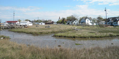 The town of Ewell, on Smith Island